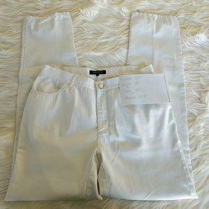 Lafayette White Straight Leg Ankle Pants 6